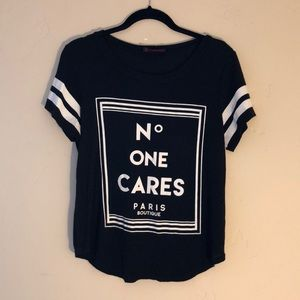 Annabelle No ONE CARES T-Shirt Top M